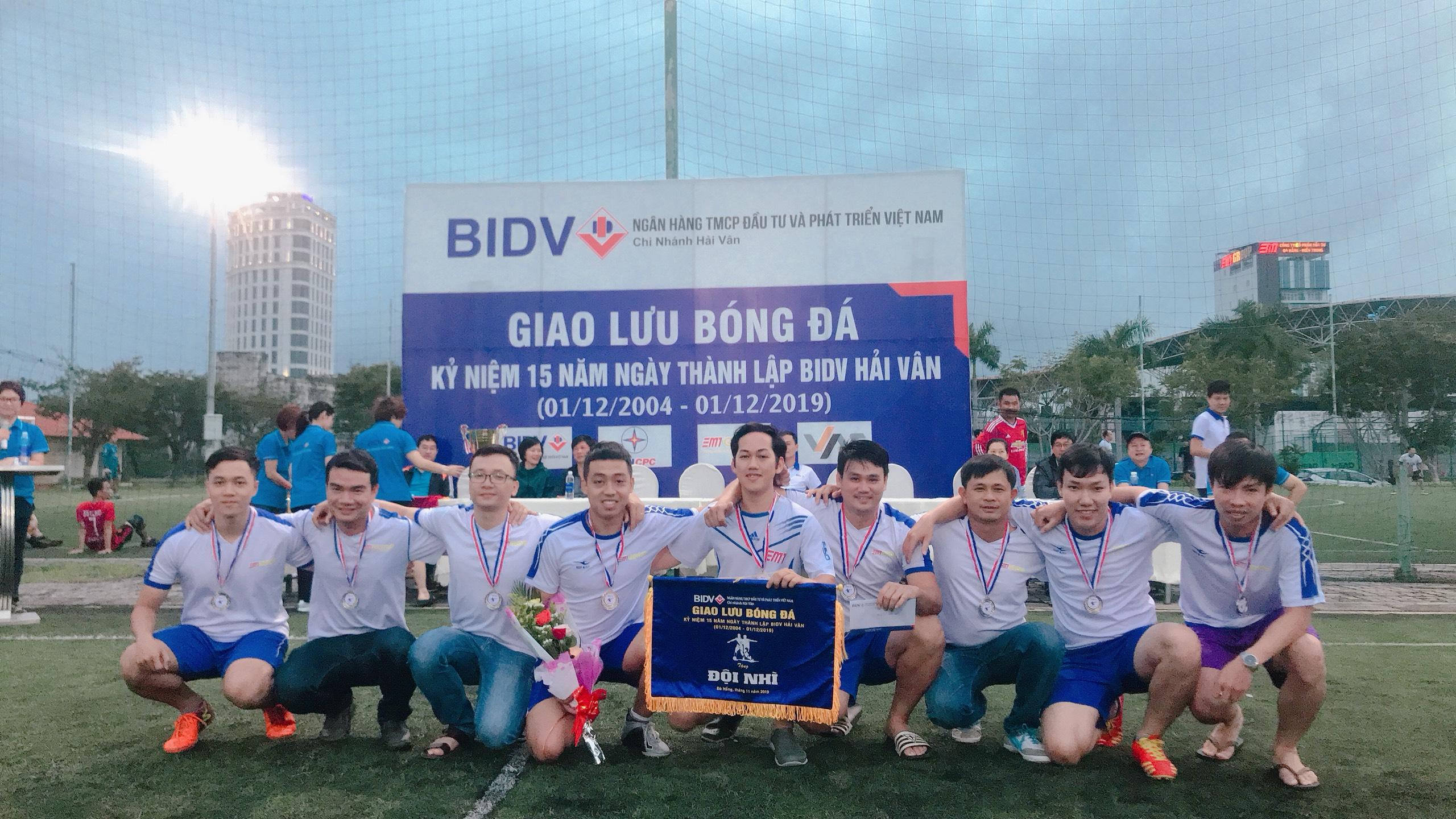DMT GROUP - Đạt Giải Nhì giải bóng đá giao lưu nhân dịp kỷ niệm thành lập BIDV Hải Vân